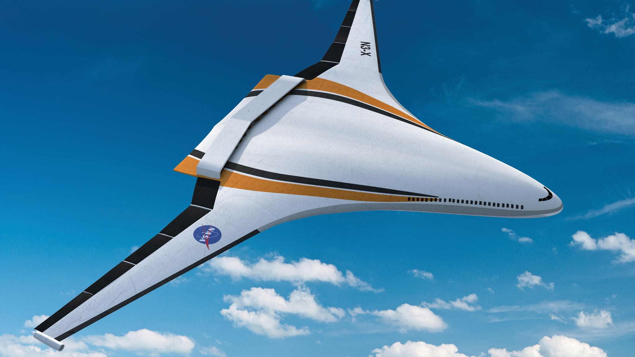 mockup of future electric aircraft